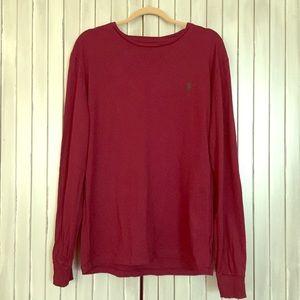 Polo Ralph Lauren Maroon Long Sleeve T Shirt M